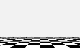 不同的观点的黑白棋盘 免版税图库摄影