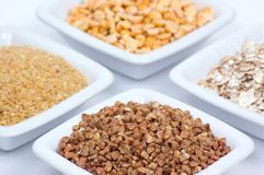 不同的谷物类型 免版税库存图片