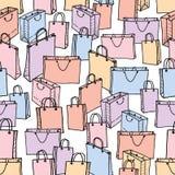 不同的购物袋的样式 免版税图库摄影