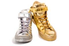不同的运动鞋 免版税库存照片