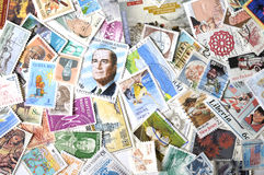 不同的邮票 库存图片