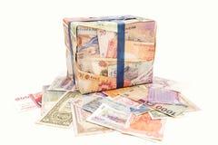 不同的钞票 库存图片