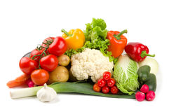 不同的集蔬菜 免版税库存照片