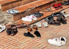 不同的鞋子 库存照片