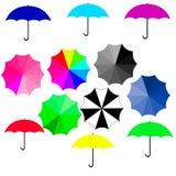 不同的颜色伞  免版税图库摄影