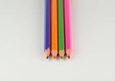 不同的颜色几支铅笔  库存照片