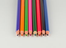 不同的颜色几支铅笔  图库摄影