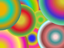 不同的颜色同心圆  免版税库存照片