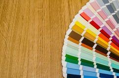 不同的颜色和树荫调色板  免版税图库摄影