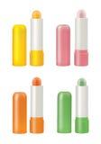 不同的颜色唇膏的选择 免版税库存图片