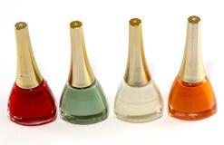 不同的颜色指甲油  免版税库存照片