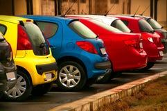 不同的颜色汽车  免版税图库摄影