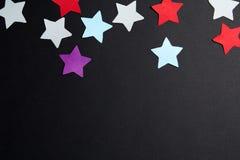 不同的颜色纸星  图库摄影