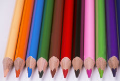 不同的颜色蜡笔  库存照片