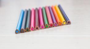 不同的颜色铅笔 库存图片