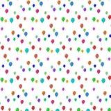 不同的颜色飞行气球  免版税图库摄影