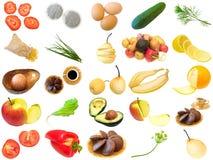 不同的食品项目设置了 免版税库存图片