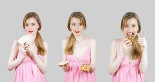 不同的食物选择 库存图片