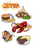 不同的餐具 库存例证