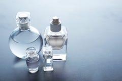 不同的香水瓶 库存照片