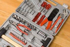 不同的仪器查出工具箱 免版税库存照片