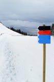 不同的滑雪倾斜 库存照片
