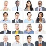 不同种族的不同的商人画象  免版税库存照片