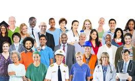 不同种族的不同的混杂的职业人民 免版税图库摄影