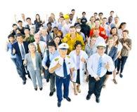 不同种族的人品种职业的 免版税库存照片