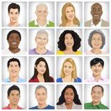 不同种族的人概念的汇集 向量例证