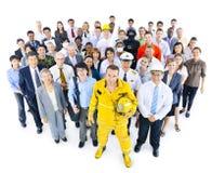 不同种族的小组专业职业人民 免版税库存图片