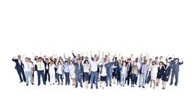 不同种族的小组企业队 免版税库存照片