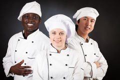 不同种族的小组厨师 库存图片