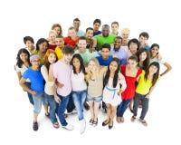 不同种族的小组年轻成人 免版税图库摄影