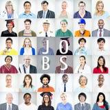 不同种族的混杂的职业人民画象 免版税图库摄影