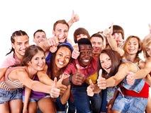 不同种族的组人员。 库存照片