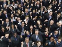 不同种族集团欢呼 免版税库存照片