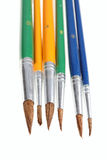 不同艺术的画笔 免版税库存图片