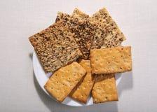 不同鲜美曲奇饼  两饼干 免版税库存照片