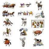 不同2个的动物 免版税库存图片