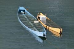 不在使用中龙的小船 免版税库存照片