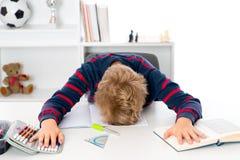 不在家庭作业的心情 免版税库存图片