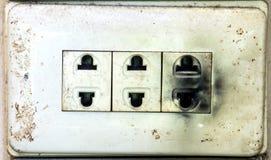 不安全的被烧的电火花塞 免版税库存照片