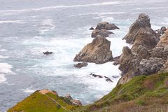 不安定的海岸 免版税库存图片