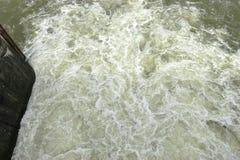 不安定的水 免版税库存图片