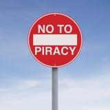 不对海盗行为 免版税库存照片