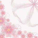 不对称的抽象花卉背景-传染媒介例证 免版税库存图片