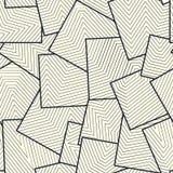 不对称的正方形瓦片充满线栅格 向量例证