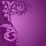 不对称的装饰品紫色 库存图片