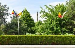不尽的专栏或无限专栏在从特尔古日乌的花园大概在一个夏日 不尽的专栏或Coloana 库存图片
